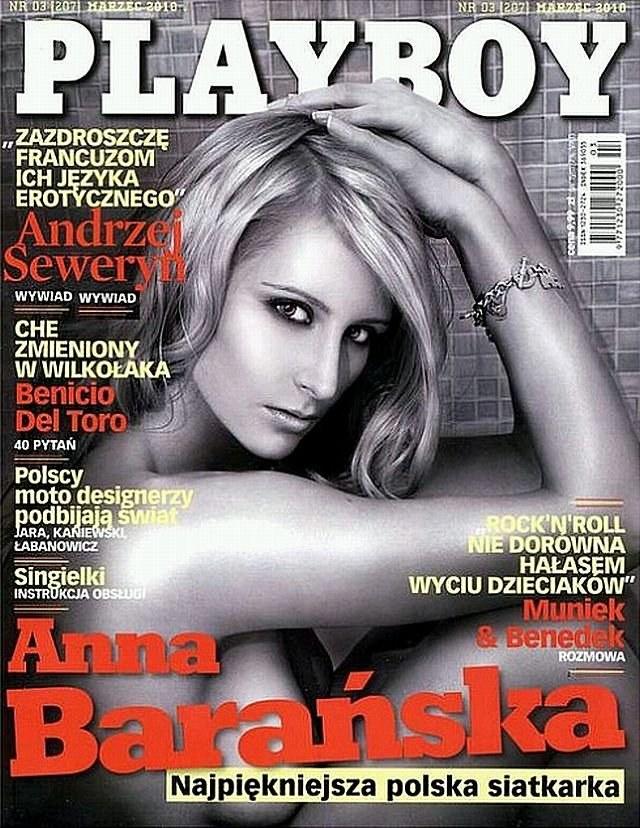 Anna Barańska (po mężu Werblińska) na okładce magazynu Playboy /INTERIA.PL