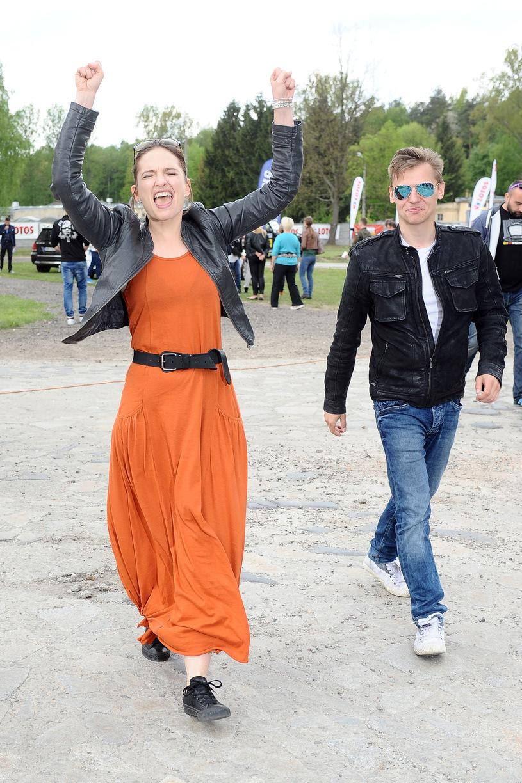 Anna Cieślak z mężem /Andras Szilagyi /MWMedia