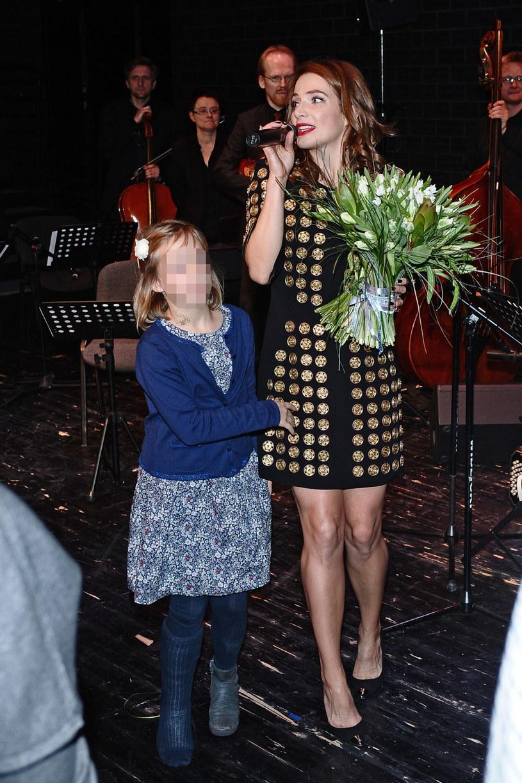 Anna Dereszowska z córką, 2014 rok /VIPHOTO /East News