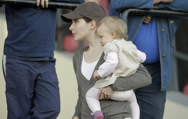 Anna Dereszowska z córką /fot.Michał Baranowski  /AKPA