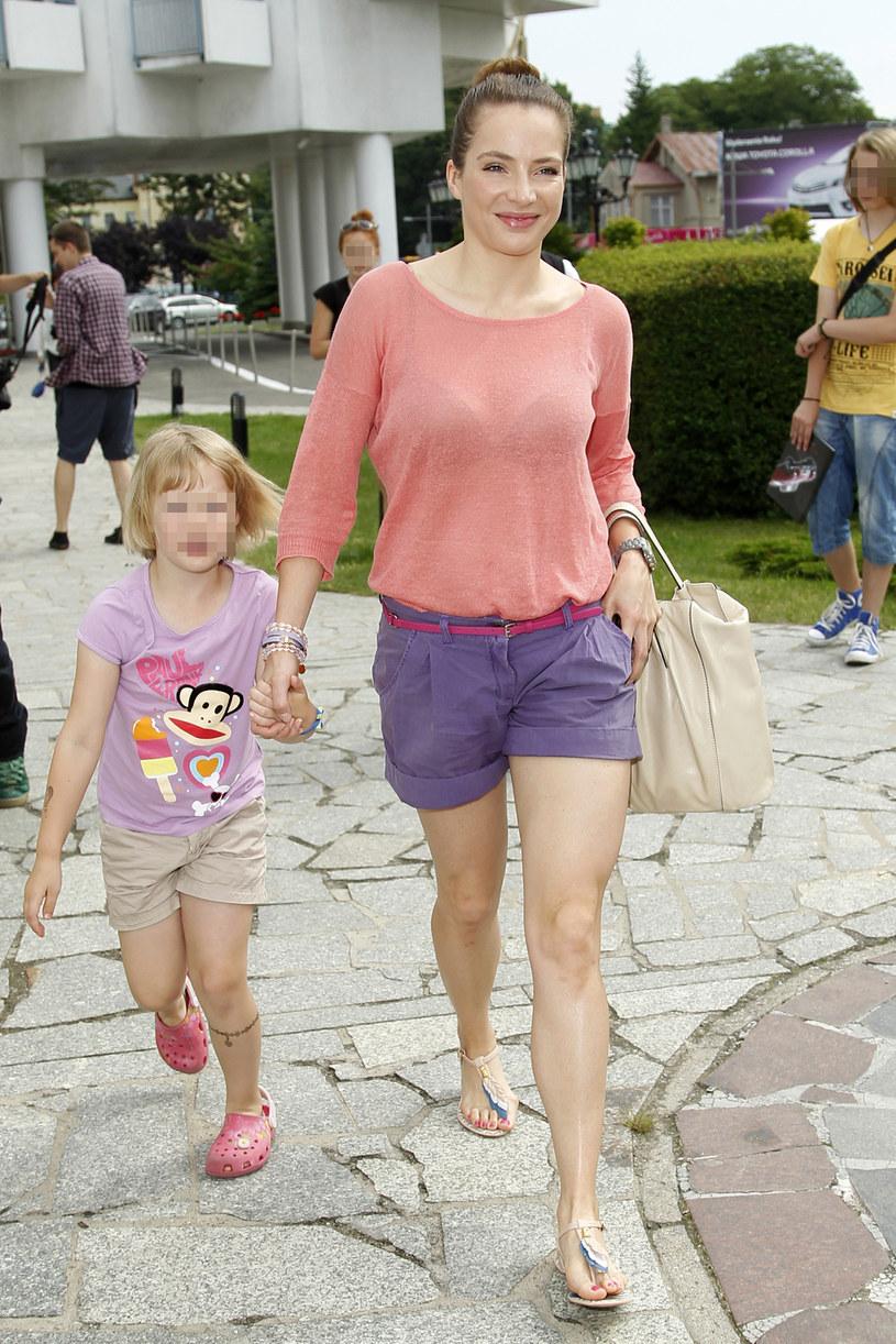 Anna Dereszowska z córką Lenką, zdjęcie archiwalne z 2013 roku / Engelbrecht /AKPA