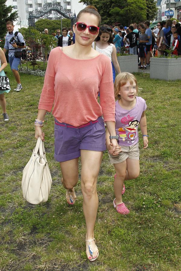 Anna Dereszowska z córką /Engelbrecht /AKPA