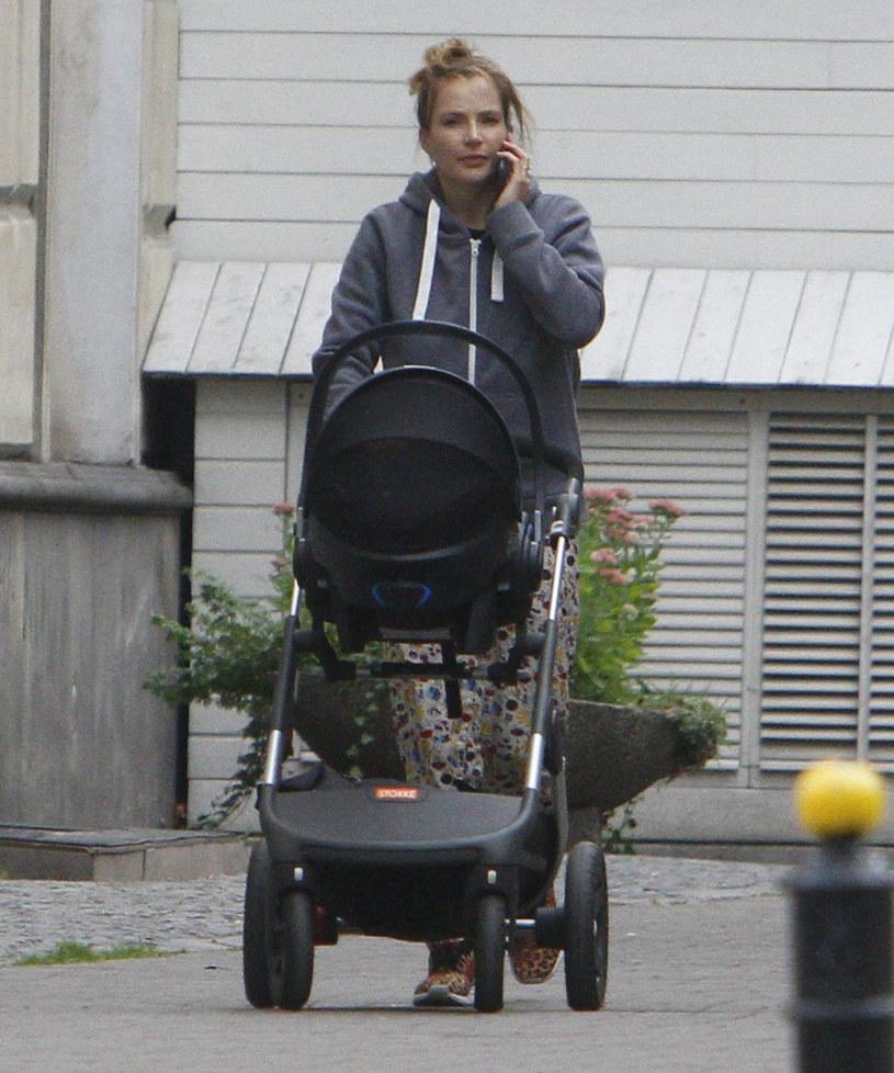 Anna Dereszowska z synem /Foto IP
