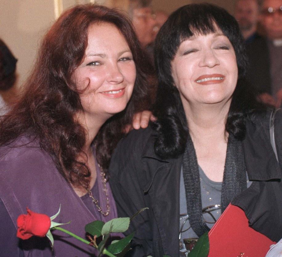 Anna Dymna i Ewa Demarczyk /Jacek Bednarczyk   /PAP