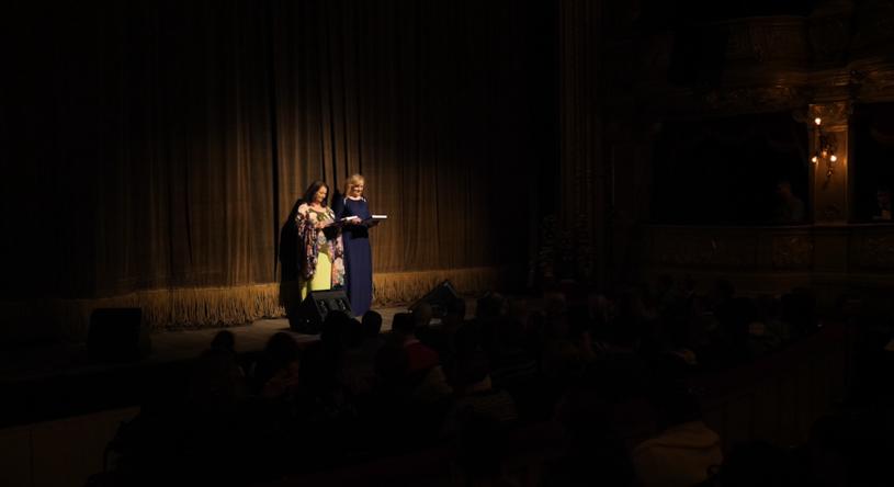 """Anna Dymna i Lidia Jazgar podczas """"Albertiany"""" w Teatrze Słowackiego /Krzysztof Zając /Styl.pl"""