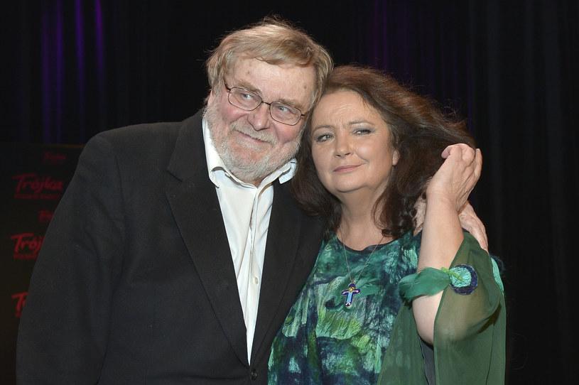 Anna Dymna z mężem Krzysztofem Orzechowskim /Gałązka /AKPA