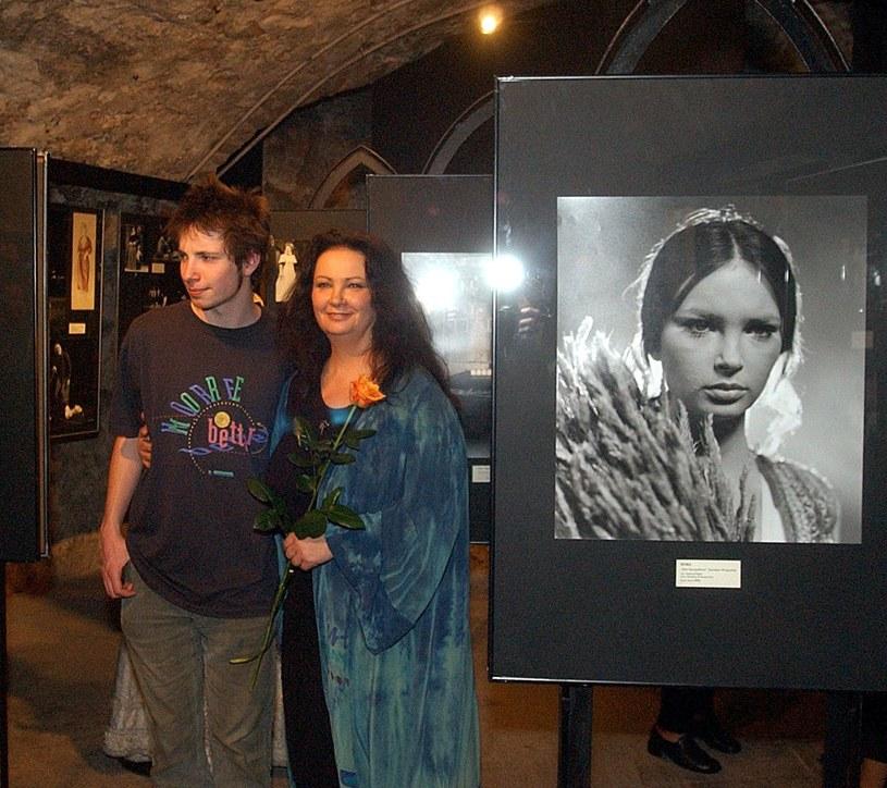 Anna Dymna z synem Michałem /Wacław Klag /Reporter