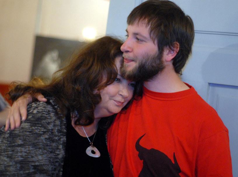 Anna Dymna z synem Michałem /M.Lasyk/REPORTER /East News