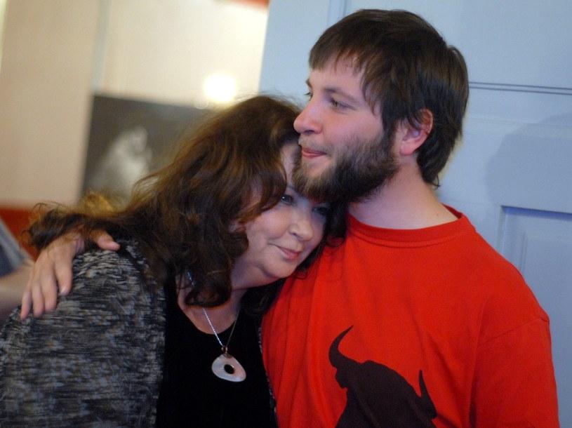 Anna Dymna z synem /M. Lasyk /Reporter