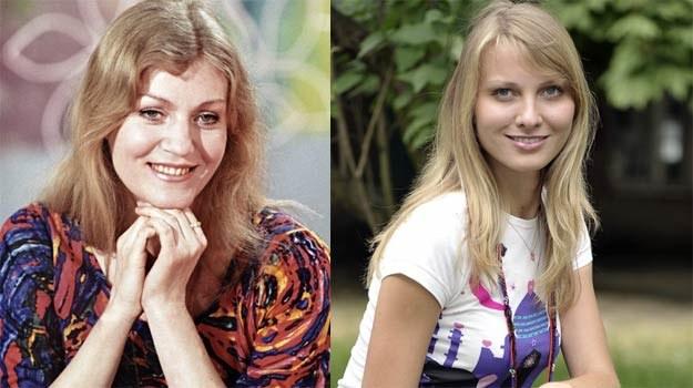 Anna German (L) i Joanna Moro (P), która zagra słynną piosenkarkę - fot. East News / AKPA /
