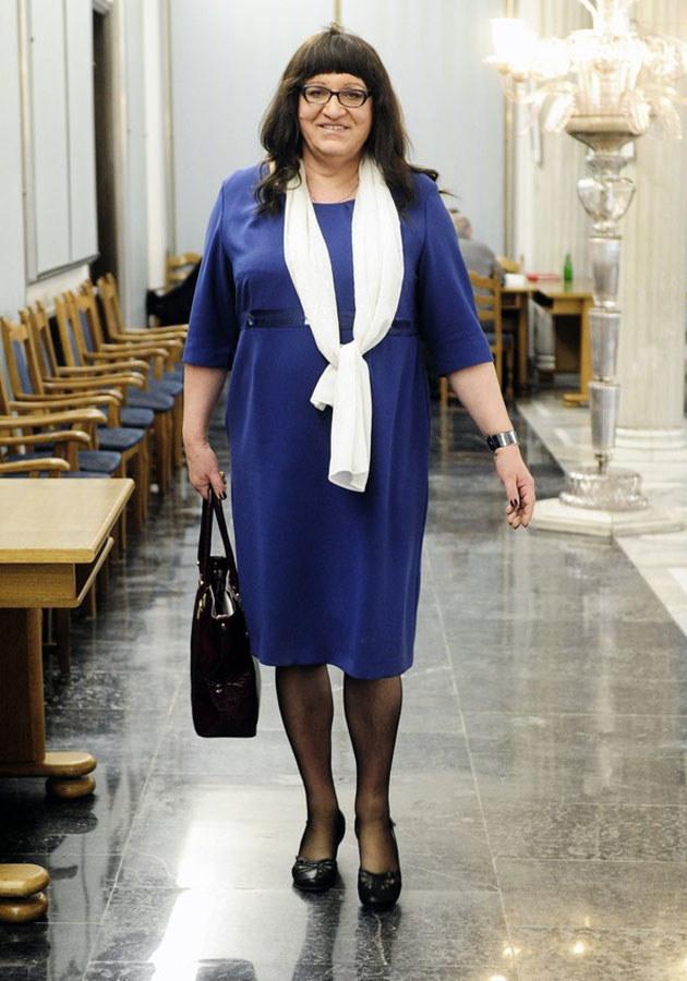 Anna Grodzka dba o to, by zawsze wyglądać kobieco. /Piotr Blawicki /East News
