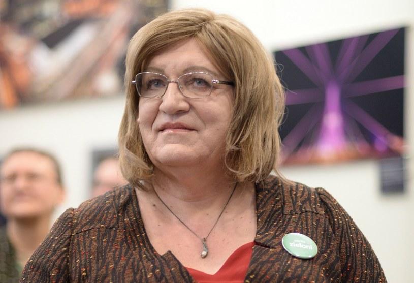 Anna Grodzka - osoba transpłciowa, czynny polityk, kandydatka na prezydenta RP /Jacek Turczyk /PAP