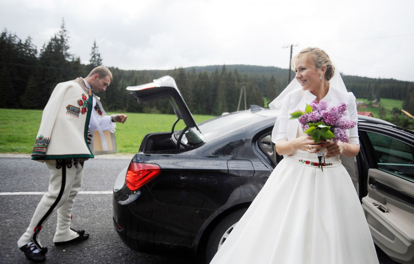 Anna Guzik w dniu ślubu /Maciej Gillert /East News