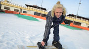 Anna Gzyra trenuje snowboard w... Warszawie