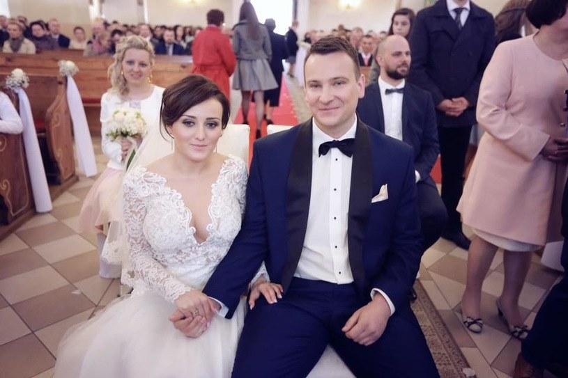 Anna i Grzegorz Bardowscy w dniu ślubu /TVP /materiały prasowe