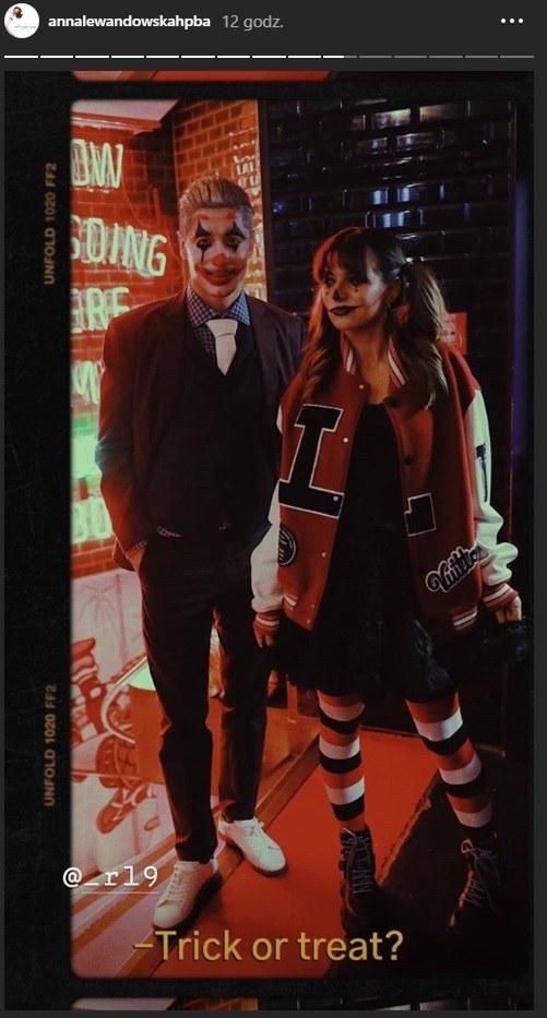 Anna i Robert Lewandowscy na imprezie Halloweenowej 2019 /Instagram/@annalewandowskahpba  /Instagram