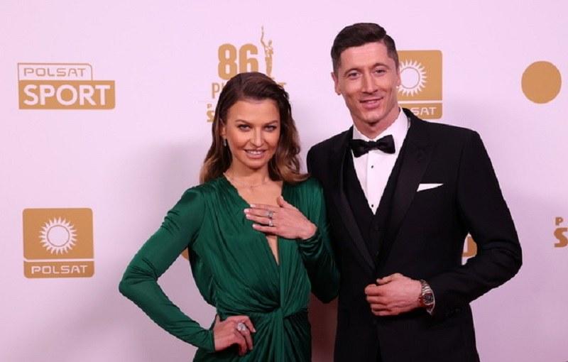 Anna i Robert Lewandowscy podczas Gali Mistrzów Sportu /Piotr Kucza /Newspix