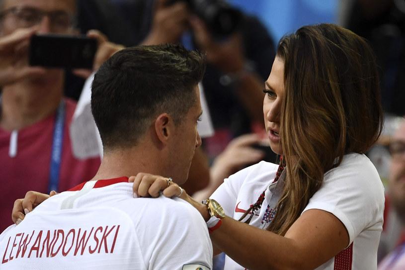 Anna i Robert Lewandowscy podczas mundialu w Rosji /AFP /East News