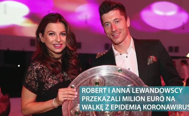 Anna i Robert Lewandowscy przekazali milion euro na walkę z epidemią koronawirusa