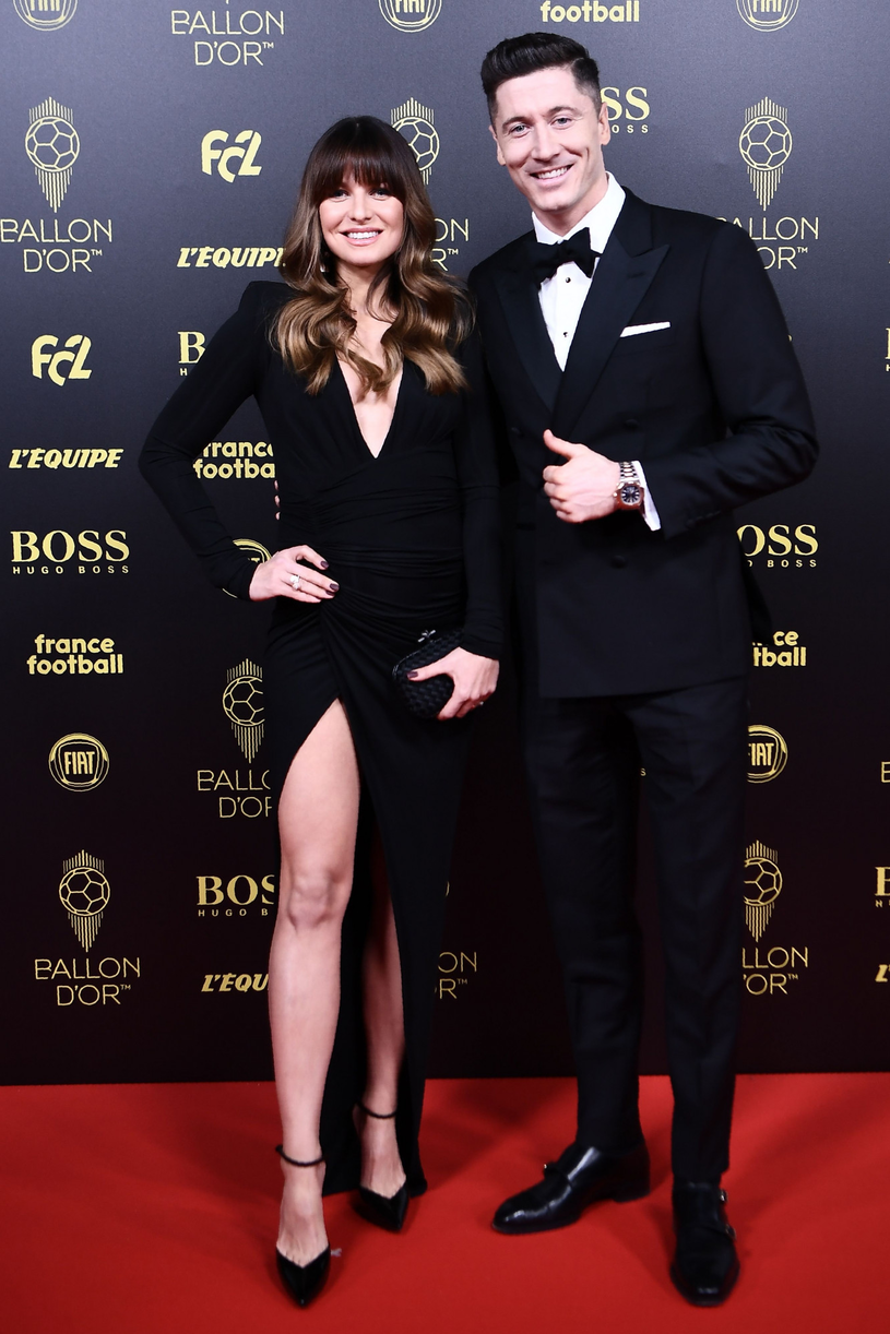 Anna i Robert Lewandowscy /Anne Christine Poujolat/AFP /East News