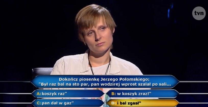 Anna Iwanowska miała szansę na 125 tys. zł /