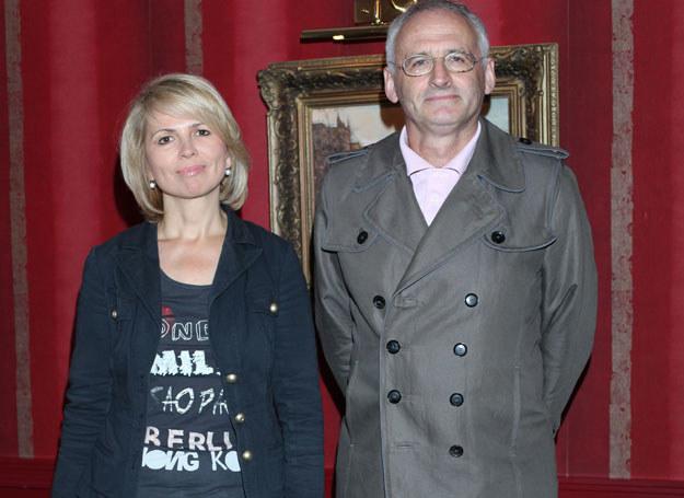 Anna Jurksztowicz z mężem, Krzesimirem Dębskim /Pawel Wrzecion /MWMedia