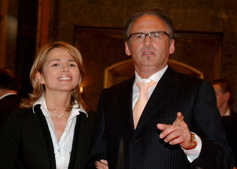 Anna Jurksztowicz z mężem Krzesimirem Dębskim /Piotr Fotek /Reporter