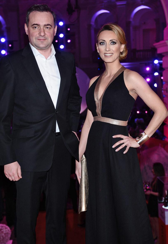 Anna Kalczyńska z mężem Maciejem Maciejowskim, członkiem zarządu TVN /Andras Szilagyi /MWMedia