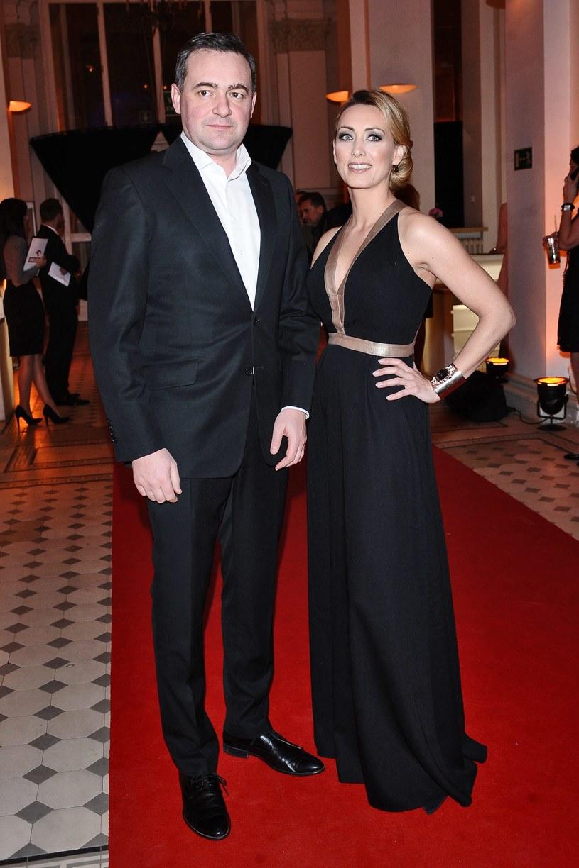 Anna Kalczyńska z mężem Maciejem Maciejowskim /Andras Szilagyi /MWMedia