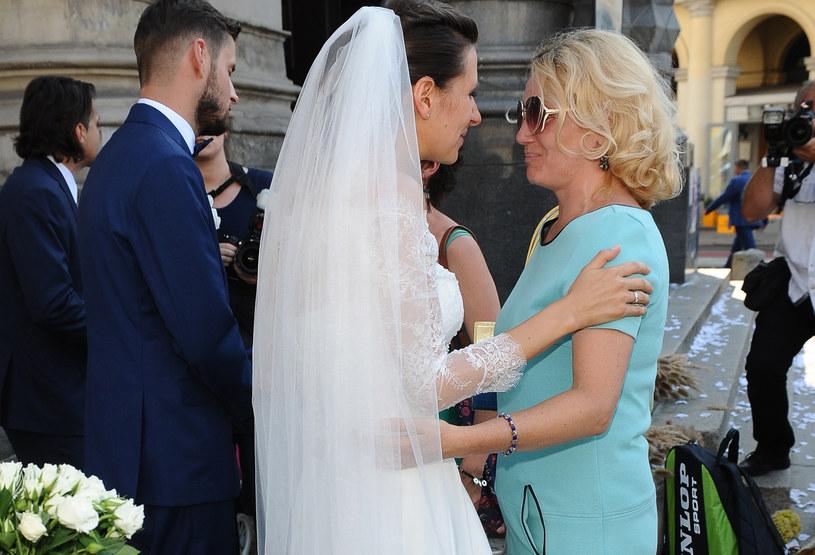 Anna Kerth w dniu ślubu /Andras Szilagyi /MWMedia