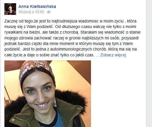 Anna Kiełbasińska na Facebooku /