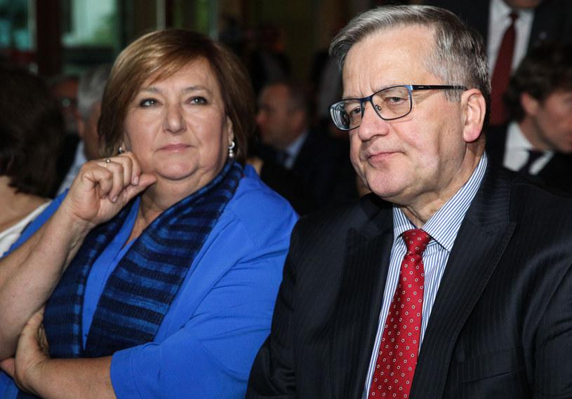 Anna Komorowska i Bronisław Komorowski /Andrzej Hulimka  /Agencja FORUM
