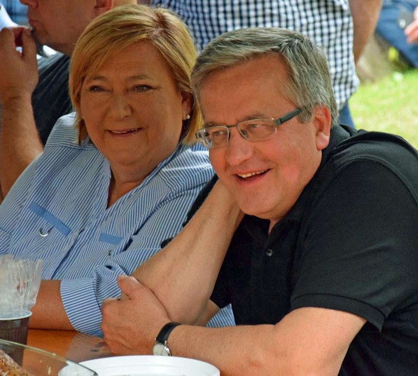 Anna Komorowska i Bronisław Komorowski /pomponik exclusive