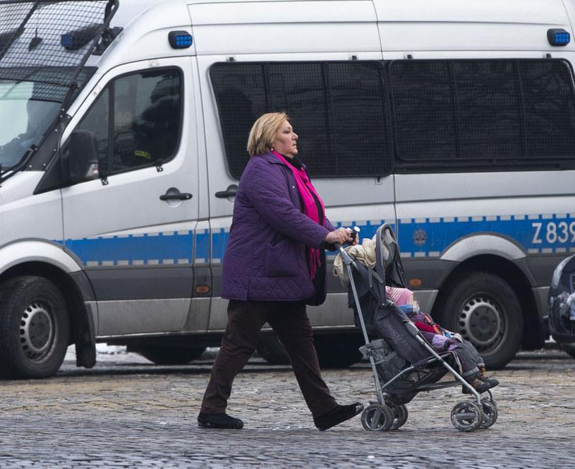 Anna Komorowska z wnuczką /Foto IP