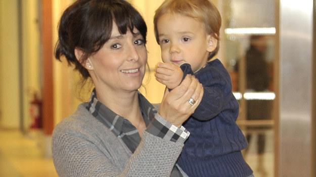 Anna Korcz z synem Jasiem /AKPA