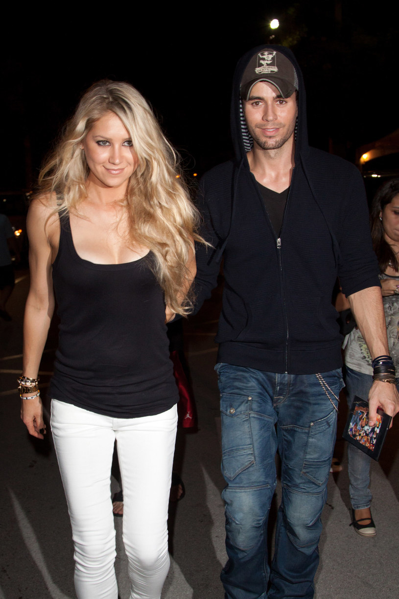 Anna Kurnikova i Enrique Iglesias /brak /Getty Images