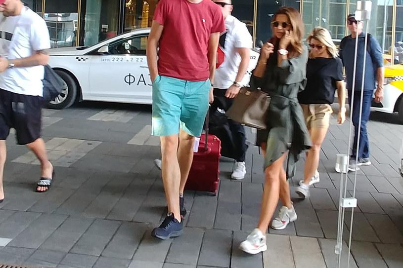 Anna Lewandowska i Marta Glik dołączyły do swoich mężów w hotelu w Moskwie /INTERIA.PL
