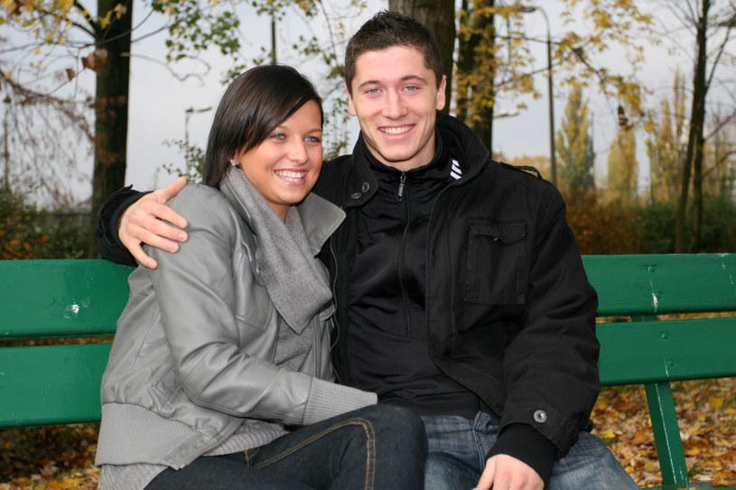 Anna Lewandowska i Robert Lewandowski, 2008 r. /Maciej Opala /Newspix