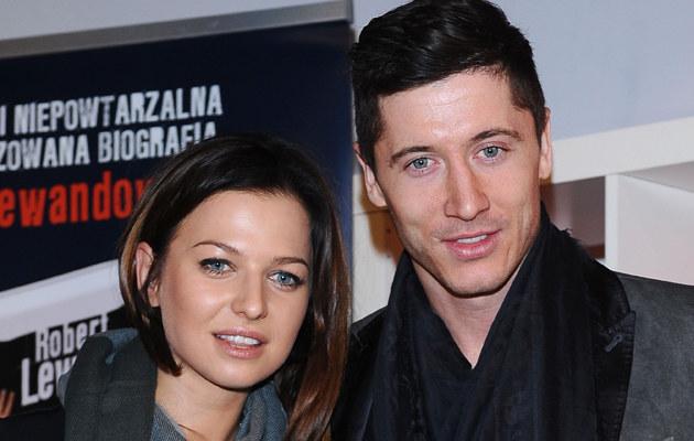 Anna Lewandowska i Robert Lewandowski /Andras Szilagyi /MWMedia