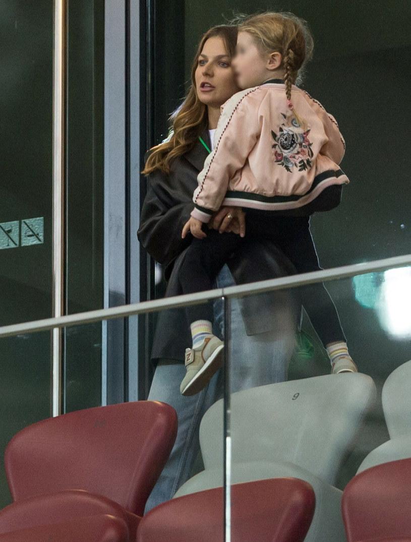 Anna Lewandowska na meczu Polska-Albania /Foto Olimpik/Tomasz Jastrzebowski /Reporter