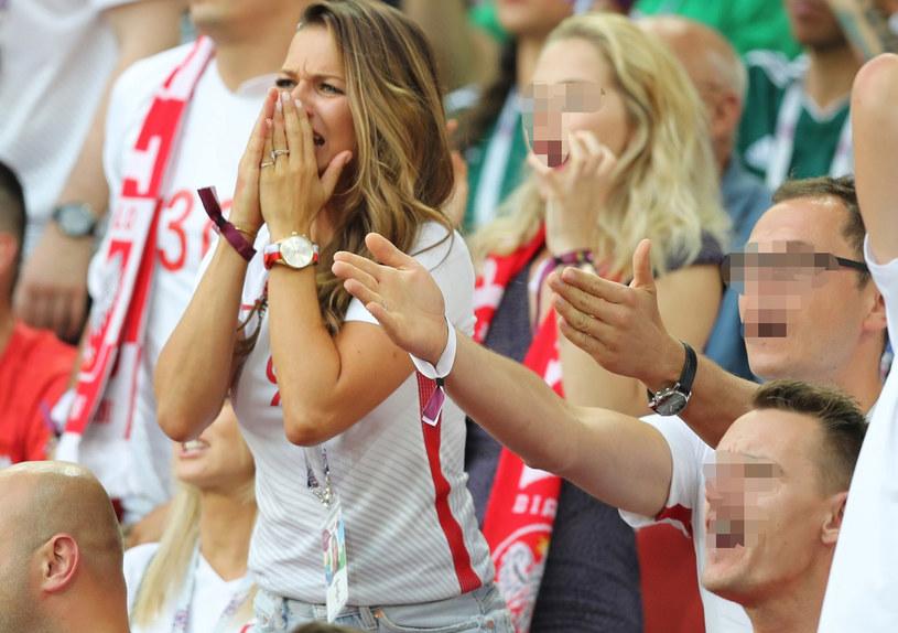 Anna Lewandowska na meczu Polska-Senegal /Pierre Teyssot / Splash News /East News