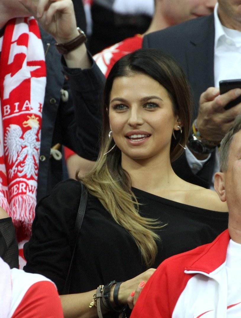 Anna Lewandowska na meczu /fot. Andrzej Lange /East News