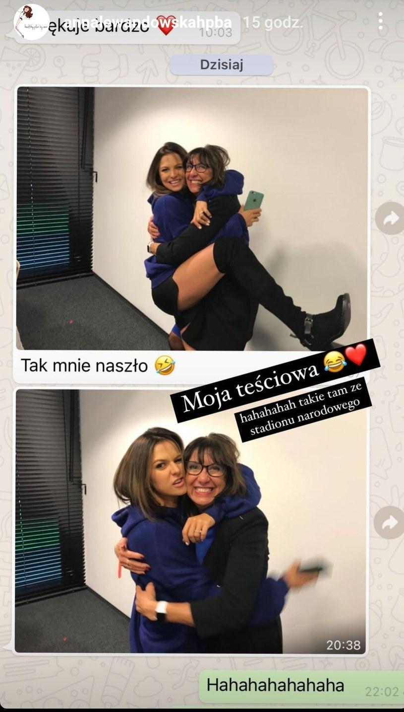 Anna Lewandowska na zdjęciu ze swoją teściową. /