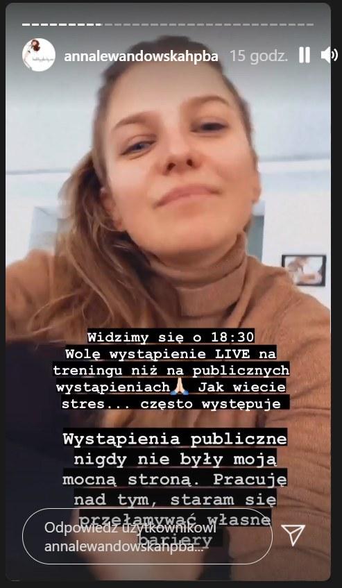 Anna Lewandowska odniosła się do swojego wystąpienia /Instagram/annalewandowskahpba /Instagram