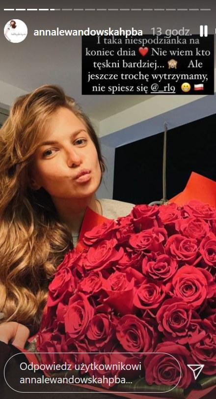 Anna Lewandowska pochwaliła się niespodzianką od męża   /https://www.instagram.com/annalewandowskahpba/ /Instagram