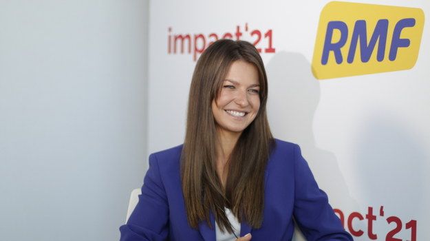 Anna Lewandowska podczas rozmowy Krzysztofem Berendą /RMF FM /RMF FM