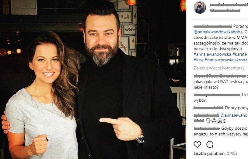 Anna Lewandowska w KSW? To byłby hit /printscreen/Instagram Martin Lewandowski /