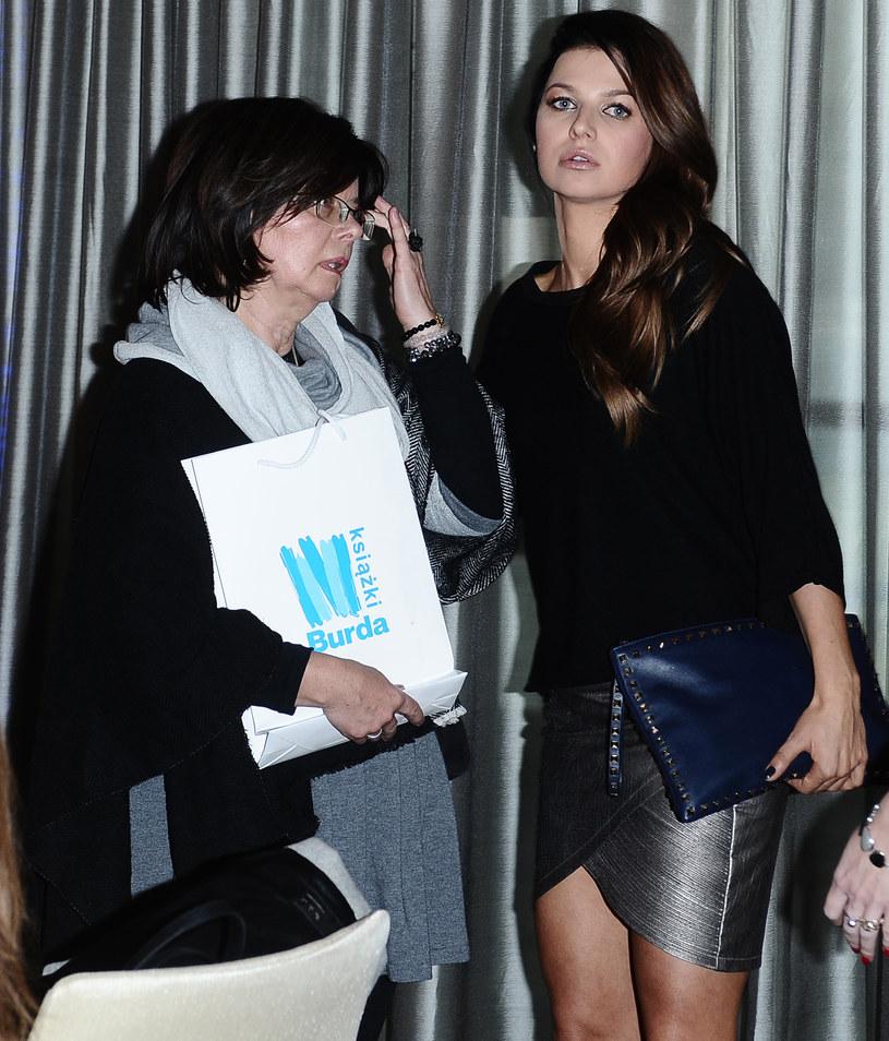 Anna Lewandowska z mamą na promocji książki /Andras Szilagyi /MWMedia