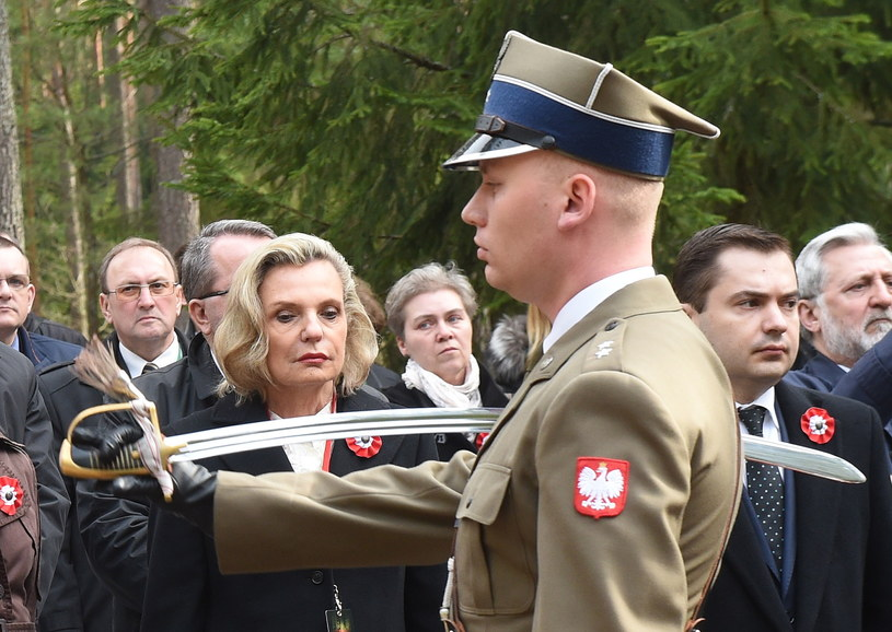 Anna Maria Anders w Katyniu /Radek Pietruszka /PAP