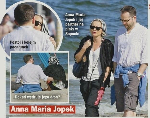 Anna Maria Jopek i Krzysztof Herdzin przyłapani przez paparazzich /Życie na gorąco
